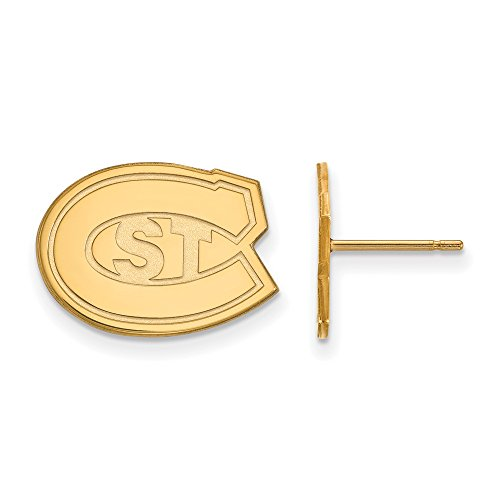 St. Cloud State Small (1/2 Inch) Post Earrings (14k Yellow Gold) by LogoArt