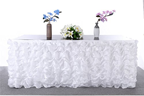 HBB Kids 3 Yards Deluxe Elegant Table Skirt Table cloth For Party Decoration, Events, Meetings, Birthdays, Wedding, Baby Shower and Home Decor