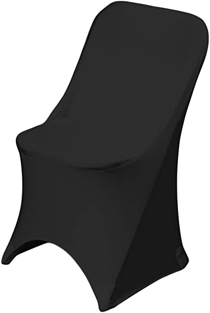 LinenTablecloth Polyester Folding Chair Cover Black