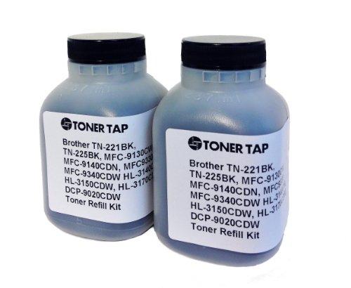 Toner Tap ® 2-Pack Refill Kit for BROTHER TN-221BK, TN-225BK for MFC