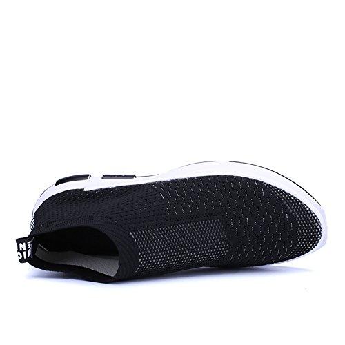 Sportive Cliont Scarpe Outdoor Nero da Leisure Slip On Scarpe Uomo Sneaker Traspiranti TxprnHvT
