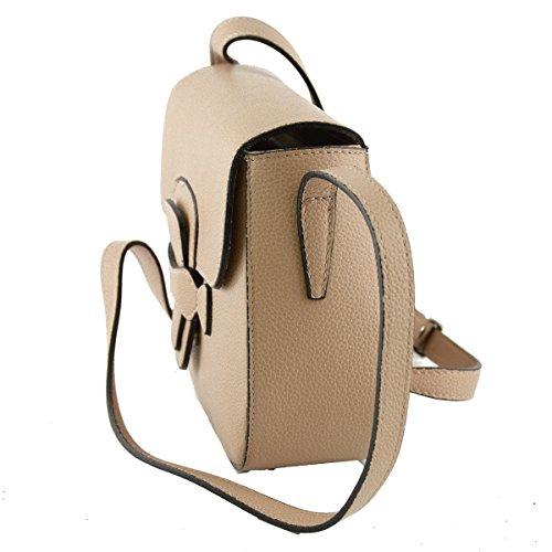 Farbe Rosa Schultertasche Damentasche Lederwaren Echtes Leder Italienische Champagne pwHcBq