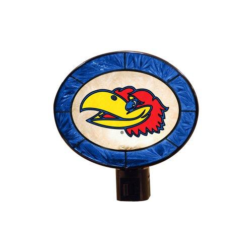 NCAA Kansas Art Glass Nightlight
