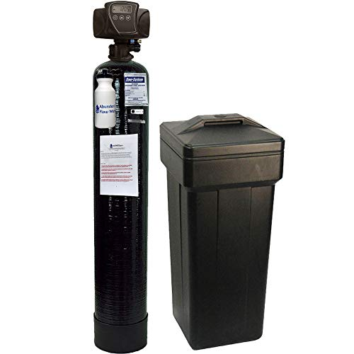 Fleck IRON Pro 2 AFW Filters Combination Water Softener Iron Filter 5600SXT Digital Metered Valve for Whole House (48,000 Grains, Black) ()