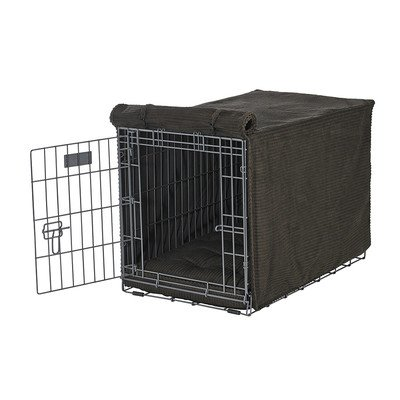 Bowsers Luxury Crate Cover, Medium, Coffee