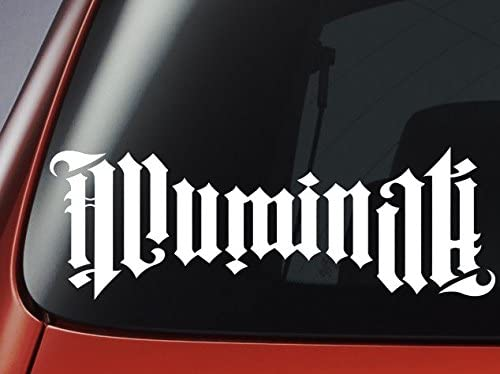 Illuminati ambigrama – Vinilo, ideal para coches, ventanas, paredes, portátiles, guitarras – Adhesivo Varios colores: Amazon.es: Coche y moto