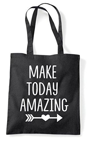 Tote Make Shopper Black Today Bag Statement Positive Amazing xwq1SU8