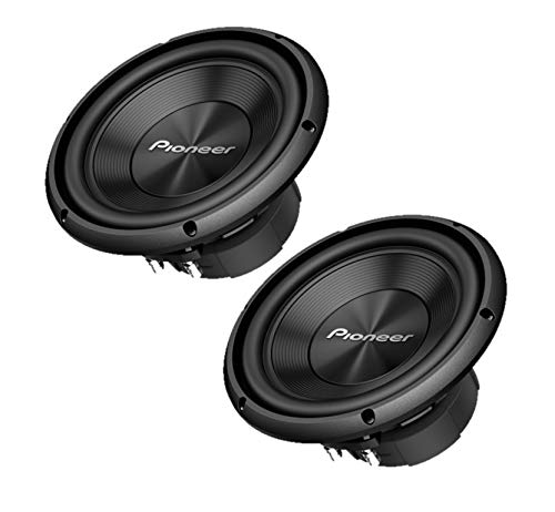"Two Pioneer TS-A100D4 10"" Dual 4 ohms Voice Coil Subwoofers"