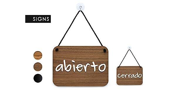 3DP Signs | Escrito a Mano - Abierto/Cerrado - Cartel Doble ...
