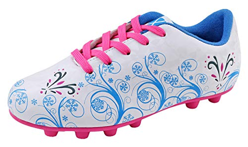 : Vizari Girls Frost Soccer Shoes 90039Frost White/Pink, 1.5 Little Kid