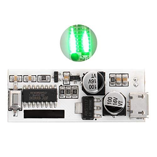 OTGO 5V USB Mini Music Spectrum Light 2x13 LED Board Voice Control Sensitivity Adjust (Green)