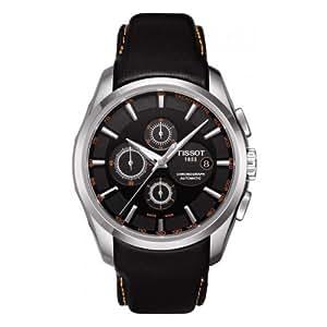 Tissot T0356271605101 - Reloj analógico de caballero automático con correa de piel negra