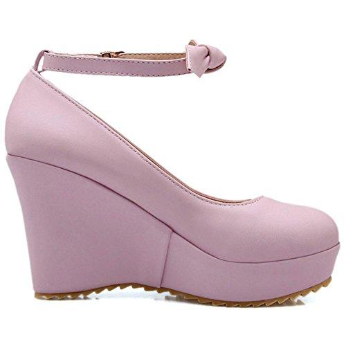 Mujer Purple para Zapatos RAZAMAZA Cuna Tacon de qwHXqPxYp
