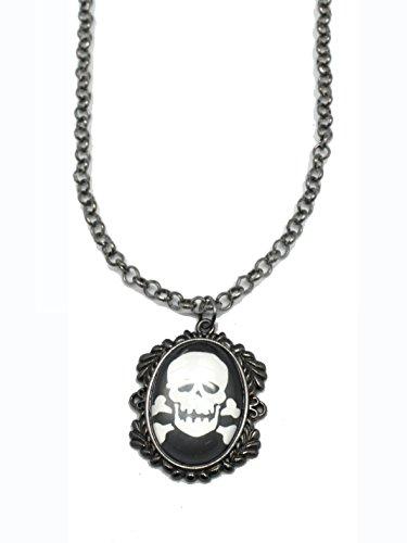 Ganz Spooky Skull Pendant Necklace ()