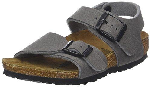 Birkenstock New York, Boys' Slingback Sling Back Sandals, Grey (Dark Gull Grey), 1 UK (33 EU)