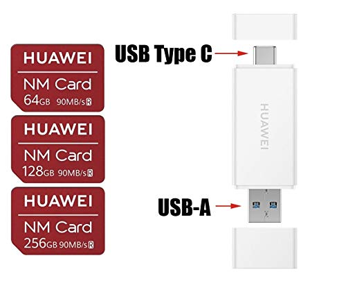 Huawei NM Card 64G 128G 256G 90MB/S Nano Memory Card Mirco SD Card Compact Flash Card, only Suitable for Huawei P30 Series and Mate20 Series, 256G (2 in 1 Reader) by HUAWEI (Image #7)