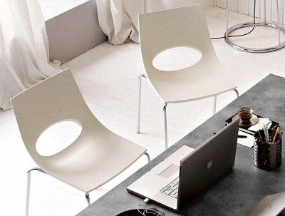 Calligaris set sedie congress impilabili acciaio satinato
