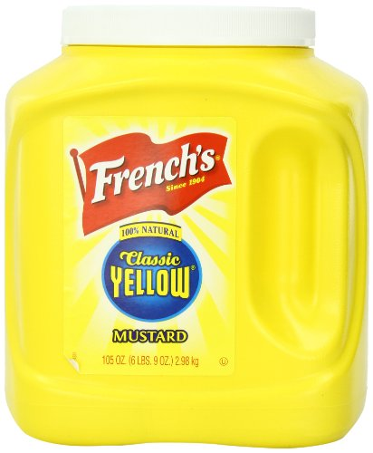 French's Mustard Jar, Classic Yellow, 105 - Mustard Frenchs Yellow Classic