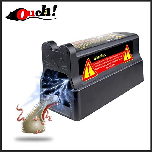 Ouch Electronic Mousetrap with UK Plug Adapter Professional Voltage Effective and Powerful Killer for Rat Squirrels   Black and UK Plug