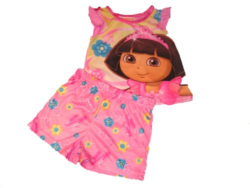 viacom-international-dora-the-explorer-princess-girls-infant-pajama-set-12-m-pink