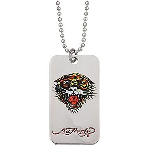 Ed Hardy Tiger Head Dog Tag (Ed Hardy Dog Tag)