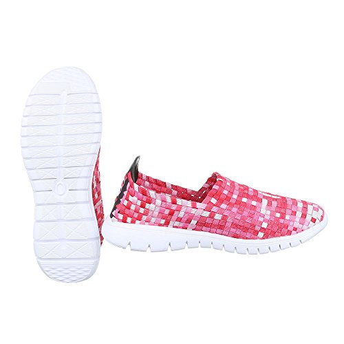 Ital-Design Women's Slippers Rot Multi DSC002-14 r0SLEpOQe