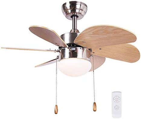 Ventilador techo Con Luz Lampara Y Mando A Distancia/Iluminación Interior/Lámpara/Luces/Lámparas/Sala De Estar/Dormitorio/Habitación Infantil/Cocina Mute 30 Pulgadas xiuyun: Amazon.es: Hogar