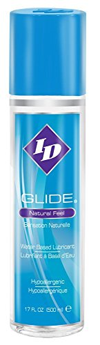 Lubricant Feel (ID Glide Water Based Personal Lubricant Natural Feel Formulated for Sensitive Skin : Size 17 Oz / 500 Ml)