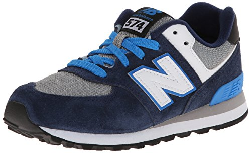 New Balance KL574 Pre Lace-Up Running Shoe,Blue/Grey,10.5 M US Little Kid