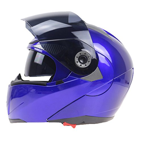 TOUKUI Safety Flip Motorcycle Helmet And Inner Visor Double Lens Motorcycle Helmet 14 M (Novelty Hawk Helmet)
