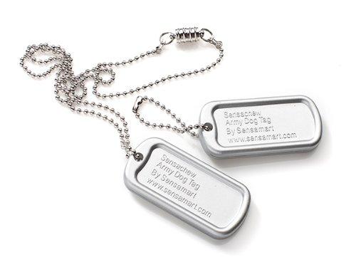 Sensachew Dog Tag – Silver – Firm, My Pet Supplies