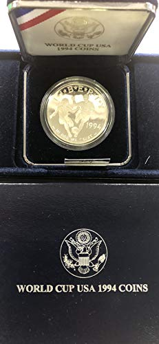 (1994 S Silver World Cup Soccer Comes in US Mint Box Dollar Proof US)