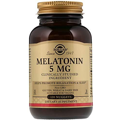 Solgar - Melatonin 5 mg, 120 Nuggets (Tablets Melatonin 5mg 120)