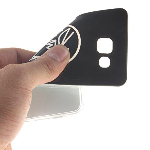 Funda Samsung Galaxy A3 (2015 Version , 4.5 pulgada) , Ycloud TPU Caparazón protector Diseño pequeño Estilo silicona Carcasa Case Cover - Orquídea cu29
