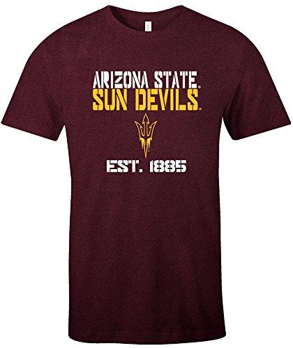 - NCAA Arizona State Sun Devils Est Stack Jersey Short Sleeve T-Shirt, Maroon,X-Large