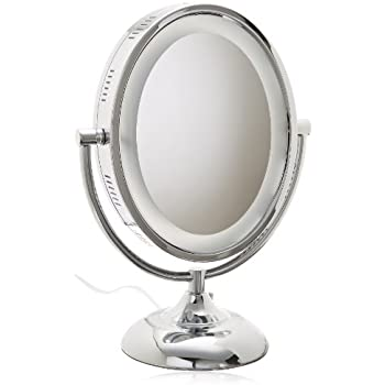 Amazon Com Jerdon Hl958c 8 Inch Oval Halo Lighted Vanity