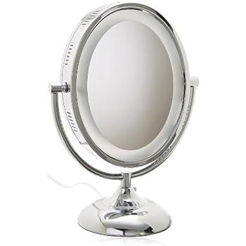 Amazon Com Jerdon Hl958c 8 Inch Oval Halo Lighted Vanity
