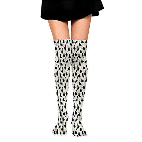 Socks Comfort Free Shopping Cat,Funny House Pet Silhouettes,socks for women