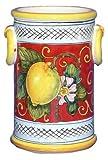 LIMONI FONDO ROSSO: Utensil/Wine holder with rings [#9233-LFR]