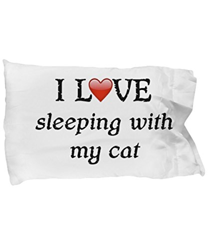 I Love My Cat Pillowcase - Cat Bug Eyed