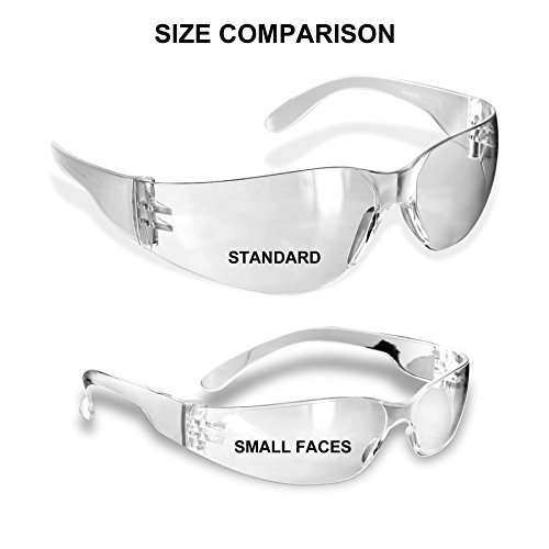 Rugged Blue Small Faces Safety Glasses (Amber - 12 - Glasses Faces Small For Safety
