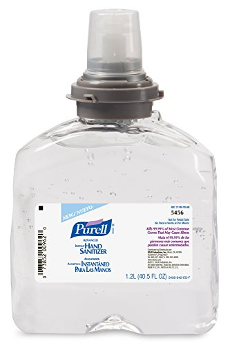 Purell TFX Refill, 5456-04 - Advanced Gel Hand Sanitizer (1200 mL) - 4 Pack (Hand Sanitizer Gel Refill)