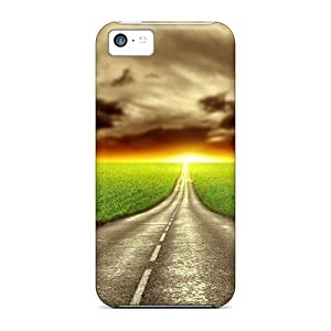 WhRivera Design High Quality Road Cover Case With Excellent Style For Iphone 5c