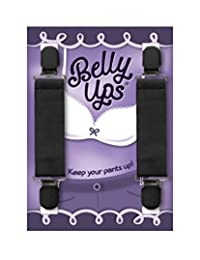 Belly Ups! The Original Maternity Suspenders Black One Size