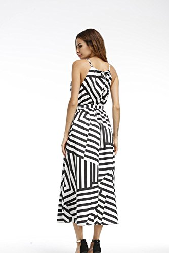 Minetom Damen Sommerkleid Partykleid Maxikleid maxi dress irregulär ...