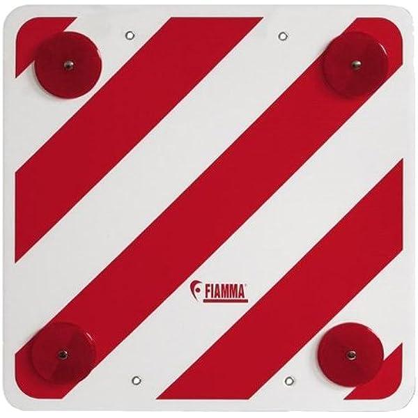 Fiamma - Tarjeta de señalización Trasera, Color Rojo y Blanco ...