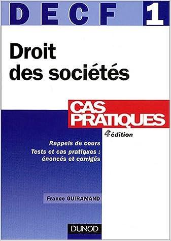 Téléchargement DECF, tome 1 : Droit des sociétés pdf ebook