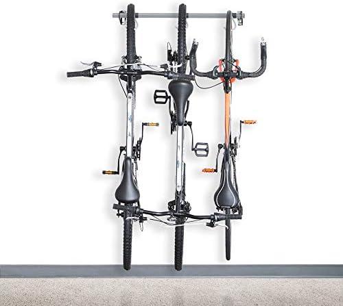 バイクストレージラック(3つのバイクを保持)