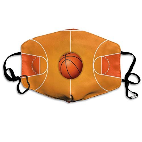 SOADV Mouth Masks Basketball Wooden Court Mouth Mask Unisex Anti-Dust Mask Reusable Mask for Men and -