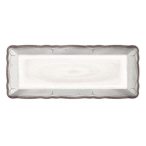 - Le Cadeaux Rustica Antique Baguette Tray, White